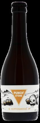 Gros plan sur notre Hopfenweisse nommée Punch'Stone. C'est la première recette qui fut élaborée par nos brasseurs. French craft beer !