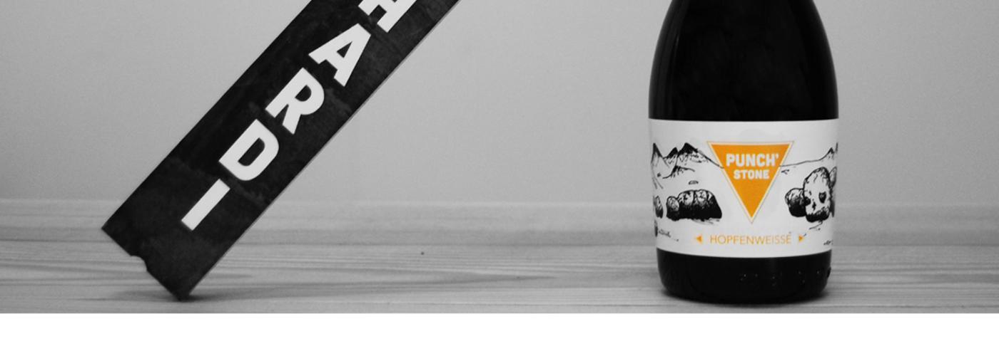 Hopfenweisse - Notre craft beer nommée Punch'stone - Accompagné d'un support Mont hardi